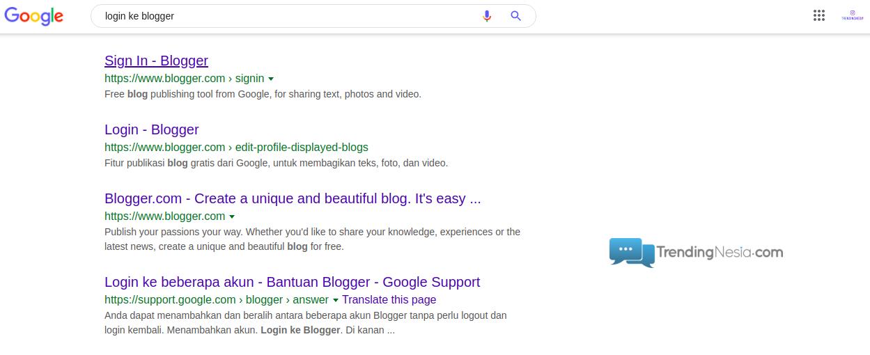 login ke blogger